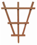 Heartland Home & Garden 01265 Garden Trellis, Barrel, Cedar Composite, 20-In.