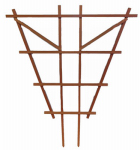 Heartland Home & Garden 32470 Garden Trellis, Espalier, Natural Redwood, 3-Ft.