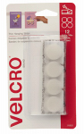 Velcro Usa Consumer Pdts 91637 Thin Poster Hanging Strips, White, Holds 1/4-Lb., 7/8-In. Coins & 1.25-In. Squares, 12-Ct.