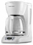 Applica/Spectrum Brands DLX1050W Programmable Coffeemaker, White, 12-Cup