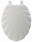 Bemis Mfg 122EC 000 Toilet Seat, Elongated, Shell, White Wood