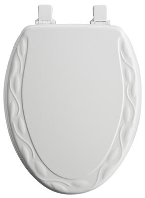 Bemis Mfg 134EC 000 Toilet Seat, Elongated, White Wood