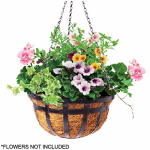 Panacea Products Corp-Import 88551 Hanging Basket Planter, Black, 14-In.