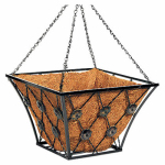 "Panacea Products Corp-Import 88961TV Hanging Basket, 14"" Square, Bronze Coated"
