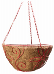 Panacea Products Corp-Import 90-90065TV Hanging Basket, Round, Daisy Style, Assorted Colors, 14-In.