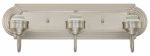 Westinghouse Lighting 6300800 Wall Light Fixture, 3-Light, Brushed Nickel, 100-Watt