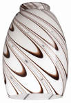 Westinghouse Lighting 8141000 Chocolate Drizzle Glass Ceiling Fan Light Shades, Must Purchase in Quantities of 4