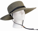 "Principle Plastics 442SG Women's ""Sage"" Braided Wide Hat, Black & White"