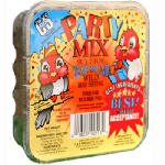 C & S Products 12513 11-oz. Party Mix Suet Cake