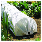 World Source Partners 7680 Garden Grow Tunnel, White Fleece/Wire, 18-In. x 10-Ft.