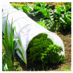World Source Partners 7684 Garden Grow Tunnel, White Polythene, 18-In. x 10-Ft.