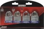 Hampton Prod Intl 172-40401 4-Pack 1-1/2 Inch Laminated Pin Tumbler Padlock