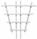 Heartland Home & Garden 02020 Garden Trellis, Barrel, White Composite, 24-In.