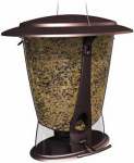 Classic Brands 12 Squirrel-Proof Bird Feeder, Brushed Copper Finish, 3.9-Lb. Capacity