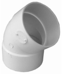Genova Products 40630 45 Degree Elbow, 3-Inch