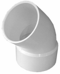 Genova Products 42730 45 Degree Street Elbow, 3-Inch
