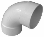 Genova Products 42830 Sanitary Elbow, 90-Degree, Hub x Hub, 3-In.