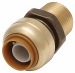 Sharkbite/Cash Acme U120LFA 1/2 x 1/2-In. MIP Straight Pipe Connector, Lead-Free