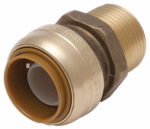 Reliance Worldwide U134LFA 3/4 x 3/4-In. MIP Straight Pipe Connector, Lead-Free