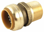 Sharkbite/Cash Acme U140LFA 1 x 1-In. MIP Straight Pipe Connector, Lead-Free