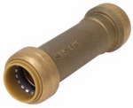 Sharkbite/Cash Acme U3008LFA 1/2 x 1/2-In. Slip Pipe Coupling, Lead-Free