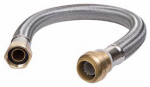 Sharkbite/Cash Acme U3068FLEX18LF 18-In. Stainless Steel Braided Water Heater Connector, Lead-Free, 1/2 x 3/4 FIP