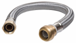 Sharkbite/Cash Acme U3088FLEX12LF 12-In. Stainless Steel Braided Water Heater Connector, Lead-Free, 3/4 x 3/4 FIP