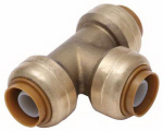 Sharkbite/Cash Acme U362LFA 1/2-In. Pipe Tee, Lead-Free