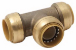 Sharkbite/Cash Acme U374LFA 1 x 1 x 1-In.  Pipe Tee, Lead-Free