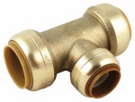 Sharkbite/Cash Acme U416LFA 1 x 1 x 3/4-In. Reducing Pipe Tee, Lead-Free