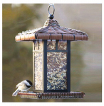 Woodlink NA31985 Metal & Wicker Lantern Bird Feeder, 2-Lb.