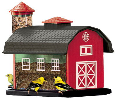 Woodlink-6290-Red-Barn-Combo-Bird-Feeder-7-Lb miniature 1