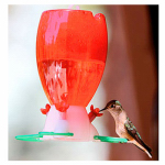 Woodlink HK6733 Pre-Filled Hummingbird Feeder, 10-oz.