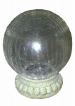 Smart Solar 3568MRM1 LED Solar Gazing Ball With Stand, Chameleon Crackled Glass