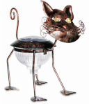 Smart Solar 3566WRM1 LED Solar Lawn Ornament, Metal Cat, 9 x 14.2 x 9.8-In.