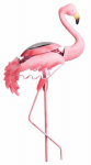 Smart Solar 3567WRM1 LED Solar Lawn Ornament, Metal Pink Flamingo, 7 x 11.4 x 28.7-In.