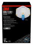 3M 8511HB1-C-PS Sanding & Fiberglass Valved Respirator, 10-Pk.