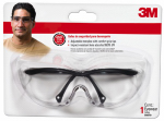 3M 90970-00001 Performance Safety Eye Protection, Black Frame/Clear Lens