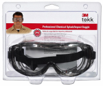 3M 91264-80025T Tekk Protection Professional Chemical Splash and Impact Goggles