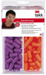 3M 92059-80025T Tekk Protection Disposable Earplugs, 80-Pr.