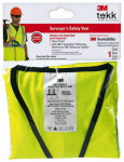 3M 94618-80030T Tekk Protection Surveyor's Safety Vest, Class 2, Hi-Viz Yellow
