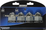 Hampton Prod Intl 172-40411 4-Pack 1-1/2 Inch Laminated Steel Warded Padlock