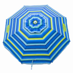 Rio Brands UDS71TB-TS Beach Umbrella, 6-Ft.