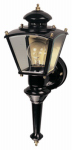 Heathco HZ-4150-BK Charleston Coach Light Fixture, Motion-Activated, Black, 100-Watt