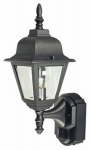 Heathco HZ-4191-BK Country Cottage Light Fixture, DualBrite Motion-Activated, Black, 100-Watt