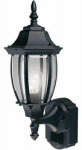 Heathco SL-4192-BK-A Alexandria Lantern, DualBrite Motion-Activated, Black, 100-Watt