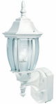 Heathco HZ-4192-WH Alexandria Light Fixture, DualBrite Motion-Activated, White, 100-Watt