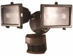 Heathco HZ-5512-BZ Halogen Flood Light, DualBrite Motion-Activated, Bronze, 300-Watt