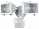 Heathco HZ-5512-WH Halogen Security Light, DualBrite Motion-Activated, White, 300-Watt