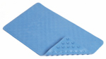 Kittrich BMAT-C4K01-04 Bath Mat, Shells, Blue Rubber, 16 x 28-In.